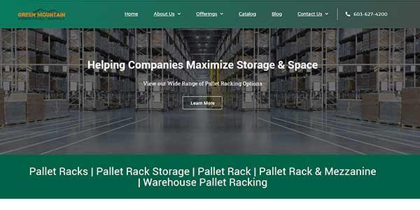 Website design client Green Mountain Supply
