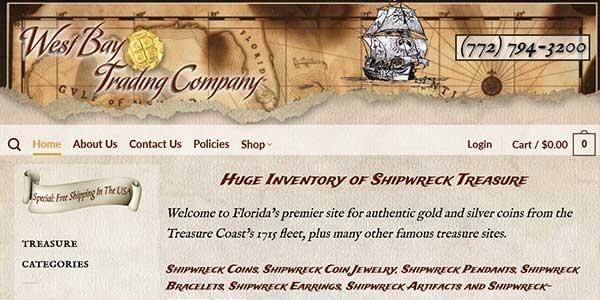 Website design client West Bay Trading